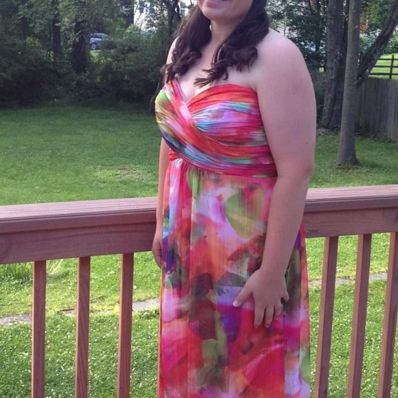 Xscape Dresses Multi Colored Pastel Floor Length Dress Poshmark